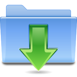 Places folder downloads icon